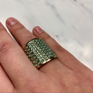 Teal ring (not real gold!)